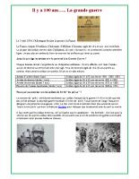 soldats morts de parcay pendant la guerre 14-18