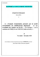 COMPLET Rapport et conclusions CE Enquête publique carrière de Parçay sur Vienne